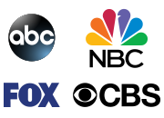 As Seen On: ABC, CBS, FOX, NBC