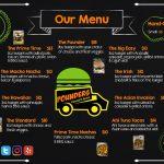 Pounders Food Truck Menu