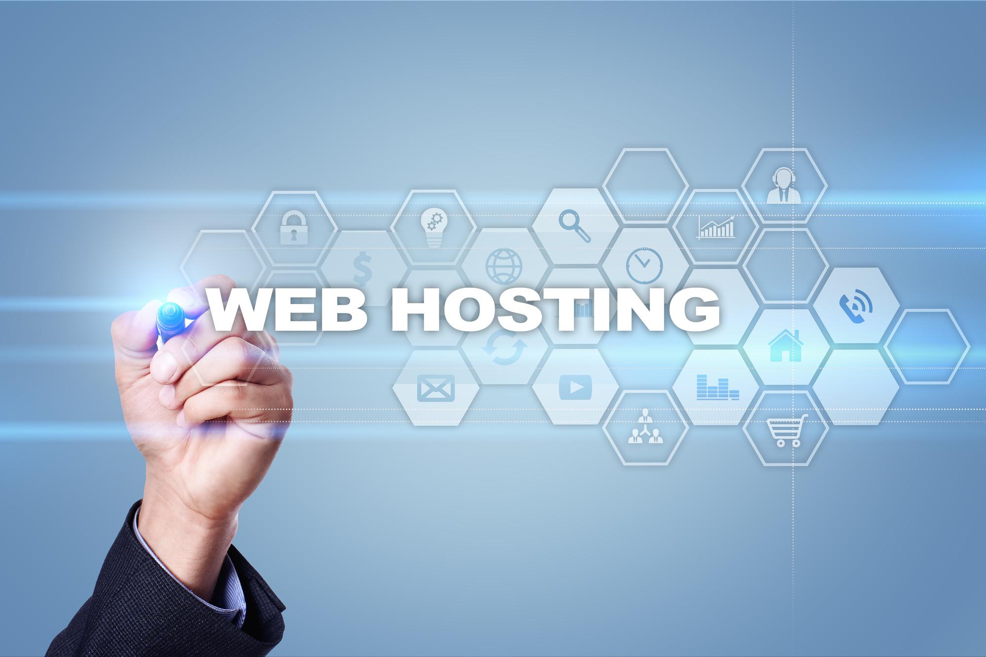 web hosting diagram