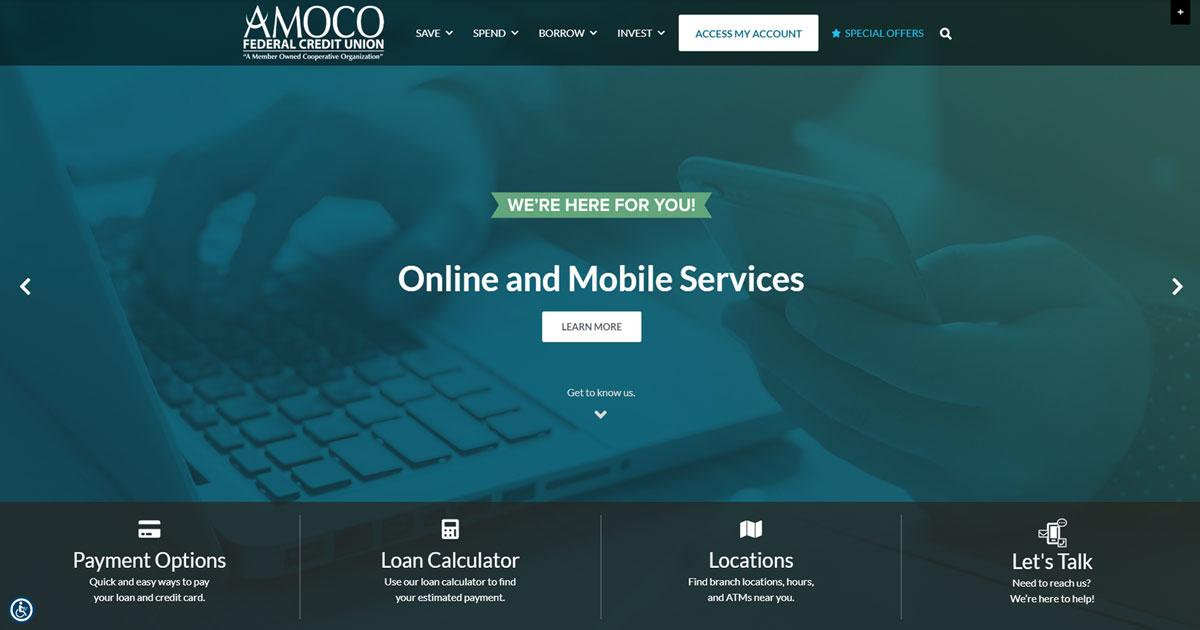 AMOCO FCU Website Redesign